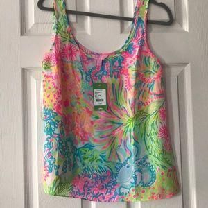 Lilly Pulitzer Cosmos Top in Lovers Coral NWT